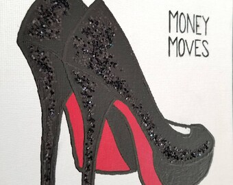 I Make Money Moves Mini Original Hand Painted Canvas