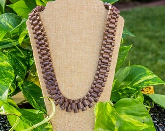 "Wenge Wood ""Rollie"" Necklace"