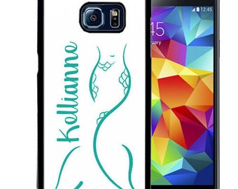 Personalized Rubber Case For Samsung Note 3, Note 4, Note 5, or Note 8- Summer Teal Mermaid