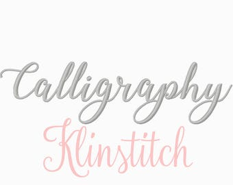 50% Sale!! Calligraphy Embroidery Fonts 5 Sizes Fonts BX Fonts Embroidery Designs PES Fonts Alphabets - Instant Download