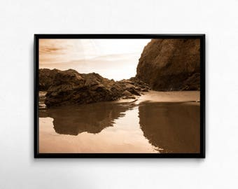 El Matador State Beach, Stone, Island, water, Waves, sky, sea, California, Malibu, digital download, print, interior, art, Photography,