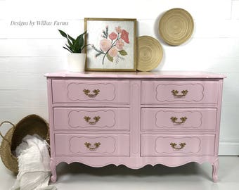 Six Drawer French Provincial Dresser