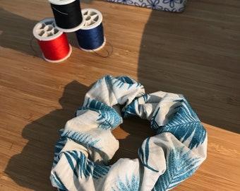 Blue hair scrunchie