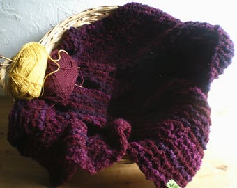 Knitted Baby Blanket, Pushchair Cover, Stroller Cover, Pram Blanket, Baby Shower Gift, Adult Shawl, Handmade, Unique, Unisex