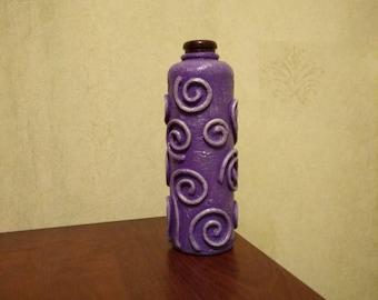 Violet bottle  home decor kitchen decor gift vase