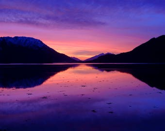 """Loch Linnhe Sunset: 5"""" x 7"""" Greeting Card, Blank inside, with envelope"""