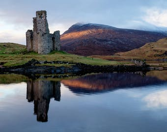 """Ardvreck Castle: 5"""" x 7"""" Greeting Card, Blank inside, with envelope"""