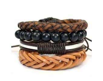 4 Pack Galvanized Bracelet Set