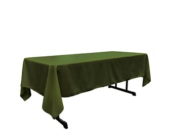 Olive 60 X 108 Rectangular 100% Woven Polyester Tablecloth For Banquets,  Weddings U0026 Parties