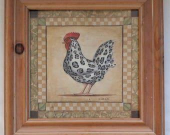 Rooster Watercolor / Print - Framed - by J Wiens