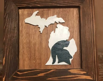 Michigan State Picture Frame