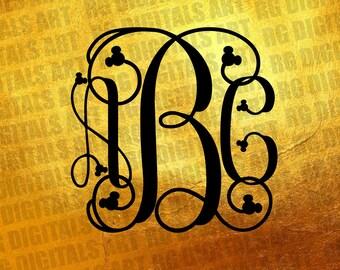 Interlocking Vine Monogram Font Svg, Vine Monogram Files, Vine Interlocking Vine Monogram SVG, Cricut Font, Svg Fonts, Silhouette Cut Files