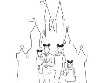 Disney Family Portrait (2-5 People)