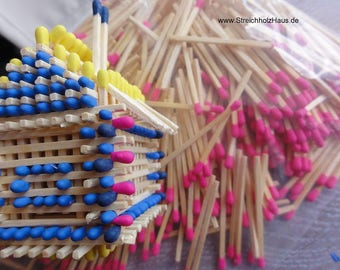500 matches, pink, 5 cm. Long