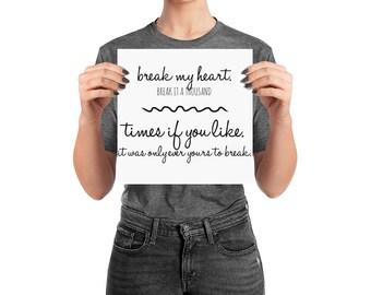 The Selection // Kierra Cass // YA Quote // Love Quotes // Bookstagram Prop // Valentines Day Present // Girlfriend // Boyfriend