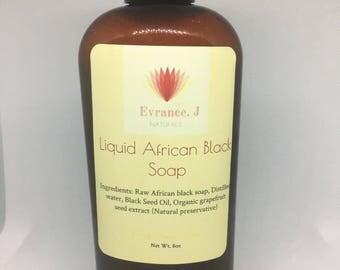 Liquid Raw African Black Soap