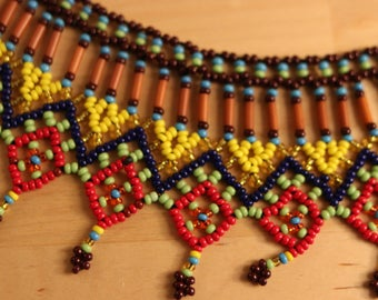 Native American style seed Bead Necklace