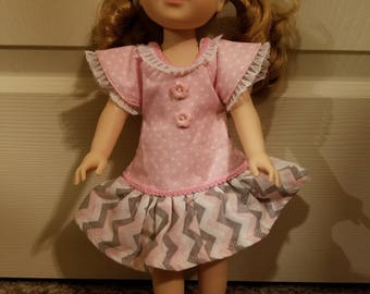Wellie Wisher pink and gray dress