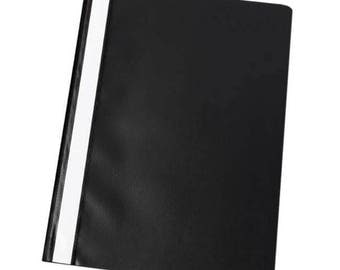 Q Connect Project Folder - Black - Pack of 25 - KF01453