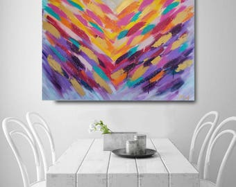 large painting, abstract painting, colorful painting, abstract art, violet painting, multicolor painting, textured painting, wall decor, art