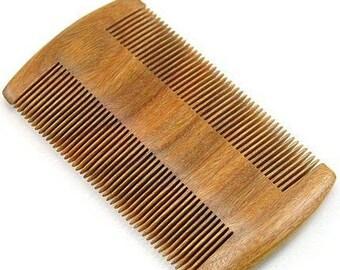 Wood Comb Pocket Sandalwood Beard Mustache Comb Small Lice Comb Engrave Logo
