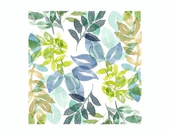 Leaves Print - Green