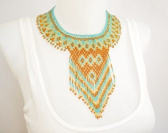 LUUV - TLATAYA necklace - Bronze / gold - style Bohemian exotic