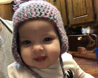 baby ear flap  hat wool