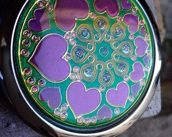 Pocket mirror, purse mirror, compact mirror, women's mirror, make up mirror, hand mirror, cosmetic mirror