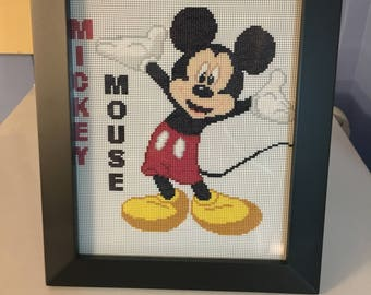 Mickey Mouse Counted Cross Stitch