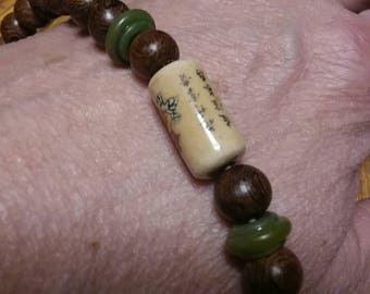 Essential Oil Diffuser Bracelet -Japanese friendship bead and jade
