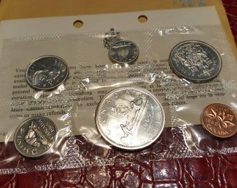 1965 Original Silver Canada RCM Proof Like Mint Silver Set PL COA + Envelope