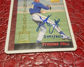 Tyrone Hill 1994 Signature Rookies RC autograph auto card 2497 /8650.Combined shipping