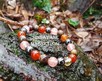 Bracelet for the anaemia semi-precious beads