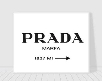 Prada Marfa print, wall art, instant download