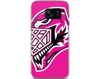 """Pink """"92"""" Goalie Mask Samsung Case"""