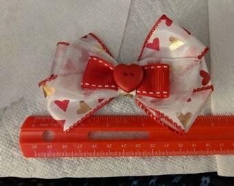 Golden Heart Valentine's Day Hair Clip