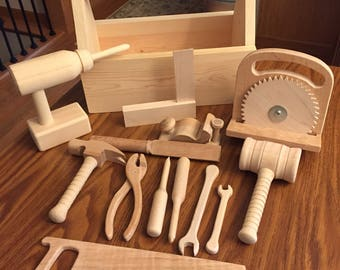 Wooden Tools Toy Set