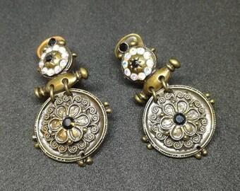 Vintage earrings. Vintage jewellery.