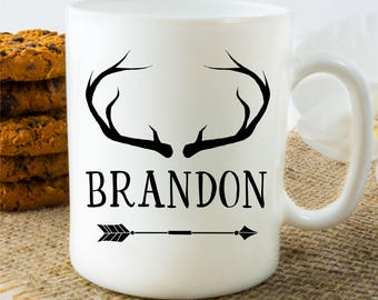 Personalized Coffee Mug for Dad, Personalized Name Mug for Hunter, Boho Name Mug for Husband, Gift for Dad, Gift for Hunter, Father's Day