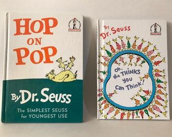 """Dr Seuss  Books ~~Beginner Reader~~"""" Hop on Pop"""" ~~ """"Oh, the Thinks you can Think!"""""""