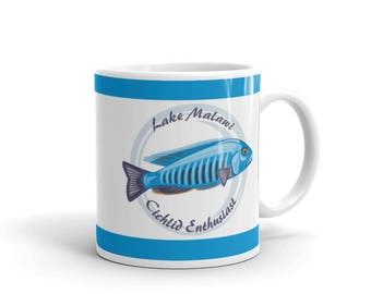Aquarium Fish Lover Mug - Cichlid Keeper Mug - Lake Malawi Cichlid Enthusiast - Coffee Drink Mug