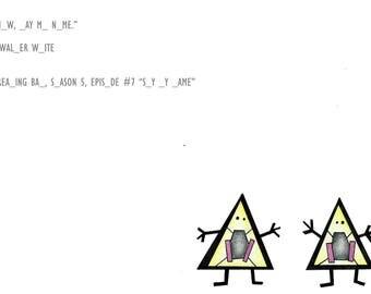 Walter and Jesse, Breaking Bad. Hangman Digital Art Print A5 Unframed.