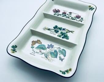 Prinknash Pottery Florabunda pottery dish