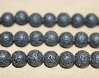 15 Inches Full strand,Black Lava Round beads  6mm 8mm 10mm 12mm 14mm beads,loose beads,semi-precious stone