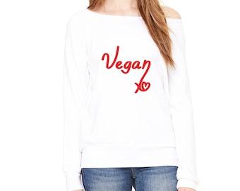 Vegan Heart Valentine's Style Sweatshirt