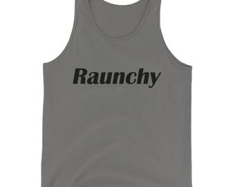 Raunchy Black Mens Tank Top