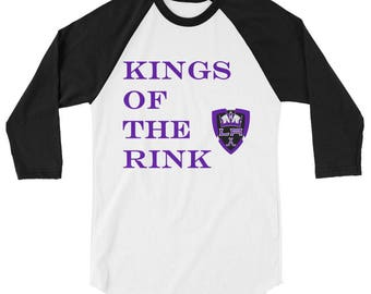 Kings of the Rink LA Kings Hockey 3/4 sleeve Mens raglan shirt
