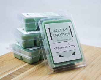 Coconut Lime Soy Wax Melt | Coconut Wax Melt, Soy Wax Melt, Soy Scented Wax Melt, Wax Melt Gift, House Warming Gift, Holiday Gift,