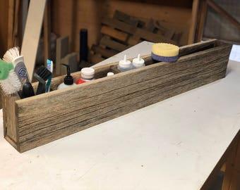 Reclaimed wood kitchen organizing box